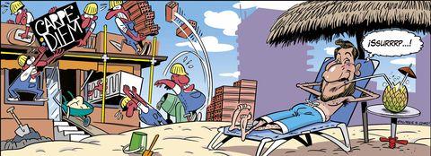 Antonio David vigila las obras de su próximo negocio: un chiringuito de playa, en la tira cómica de QMD!