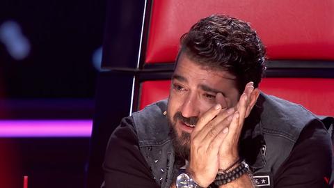 Antonio Orozco no puede evitar las lágrimas en 'La voz'