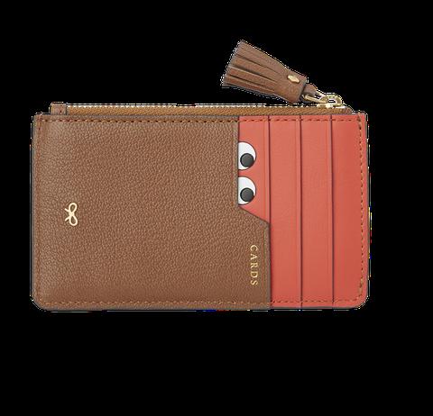 Brown, Tan, Wallet, Beige, Khaki, Rectangle, Leather, Strap,