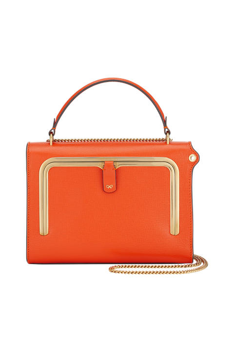 Handbag, Bag, Orange, Fashion accessory, Leather, Red, Product, Shoulder bag, Yellow, Tan,