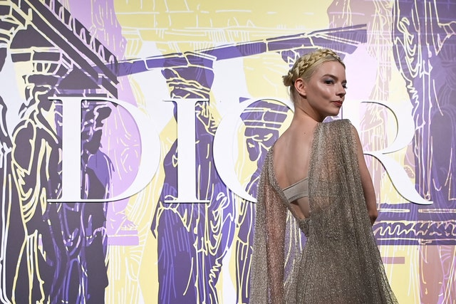 topshot   us born argentine british actress and model anya taylor joy poses during the photocall before the 2022 dior croisiere cruise fashion show, at the panathenaic stadium, in athens, on june 17, 2021 photo by aris messinis  afp photo by aris messinisafp via getty images
