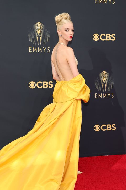 los angeles, california   september 19 anya taylor joy attends the 73rd primetime emmy awards at la live on september 19, 2021 in los angeles, california photo by rich furygetty images