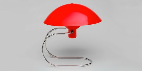 Red, Lamp, Lampshade, Mushroom, Light fixture, Lighting accessory, Sconce,