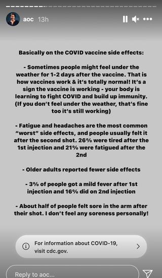 aoc vaccine covid
