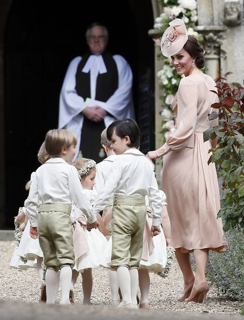 a207df4a919d8 Kate Middleton Stuns in a Pink Alexander McQueen Dress at Pippa s ...