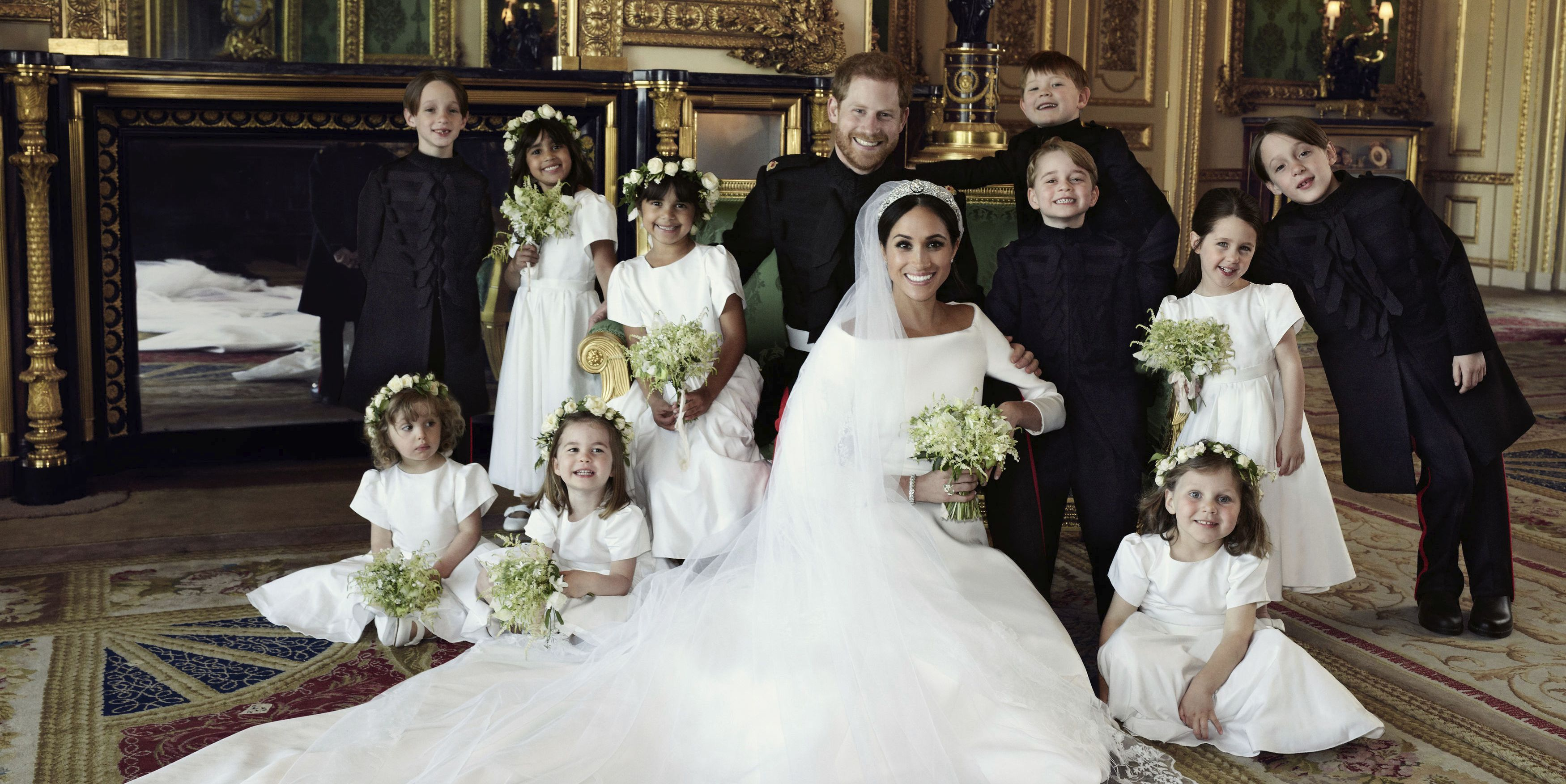 harry meghan wedding portrait