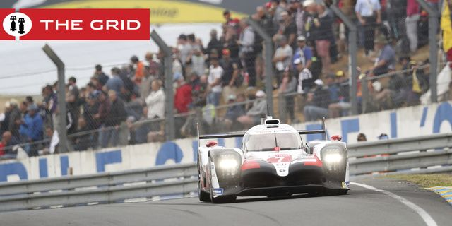 the toyota ts050 hybrid no7 of the toyota gazoo racing team driven by mike conway of britain, kamui kobayashi of japan and jose maria lopez of argentina in action during the 87th 24 hour le mans endurance race, in le mans, western france, saturday, june 15, 2019 ap photodavid vincent