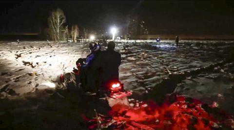 Nature, Water, Red, Geological phenomenon, Crowd, Night, Snow, Darkness, Fun, Winter,