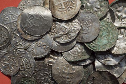 Coin, Money, Currency, Cash, Treasure, Saving, Metal, Money handling, Nickel, Close-up,