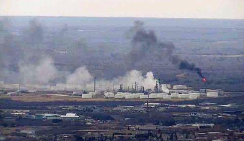 Pollution, Atmospheric phenomenon, Haze, Smoke, Explosion, Power station, Dust, Aerial photography, City,