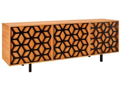 Aparador en madera con puertas de diseño