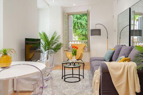 salón de estilo elegante decorado con plantas
