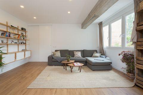 Apartamento de estilo nórdico e industrial con materiales ecológicos en Madrid