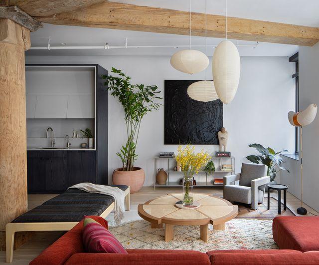 apartamento renovado tras ser un estudio de un artista en nueva york