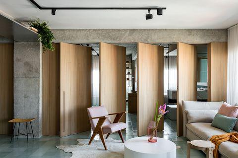 Apartamento de estilo contemporáneo y vintage