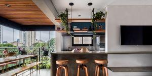 Apartamento de estilo rústico chic en São Paulo