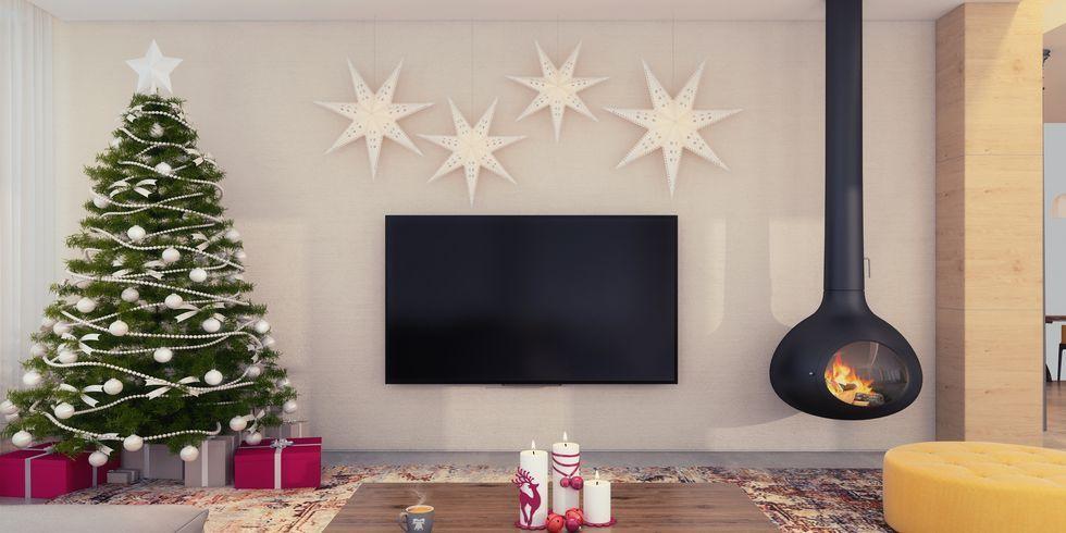 34 Easy Christmas Home Decor Ideas , Small Space Apartment