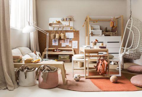 dormitorio adolescente creativo estilo minimalista y muebles naturales