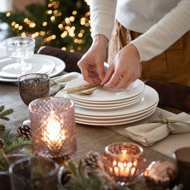 decora la mesa de navidad