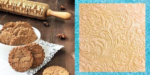 Biscotti Albero Di Natale 3d.Crea Biscotti Di Natale Unici Con Il Mattarello 3d In Legno