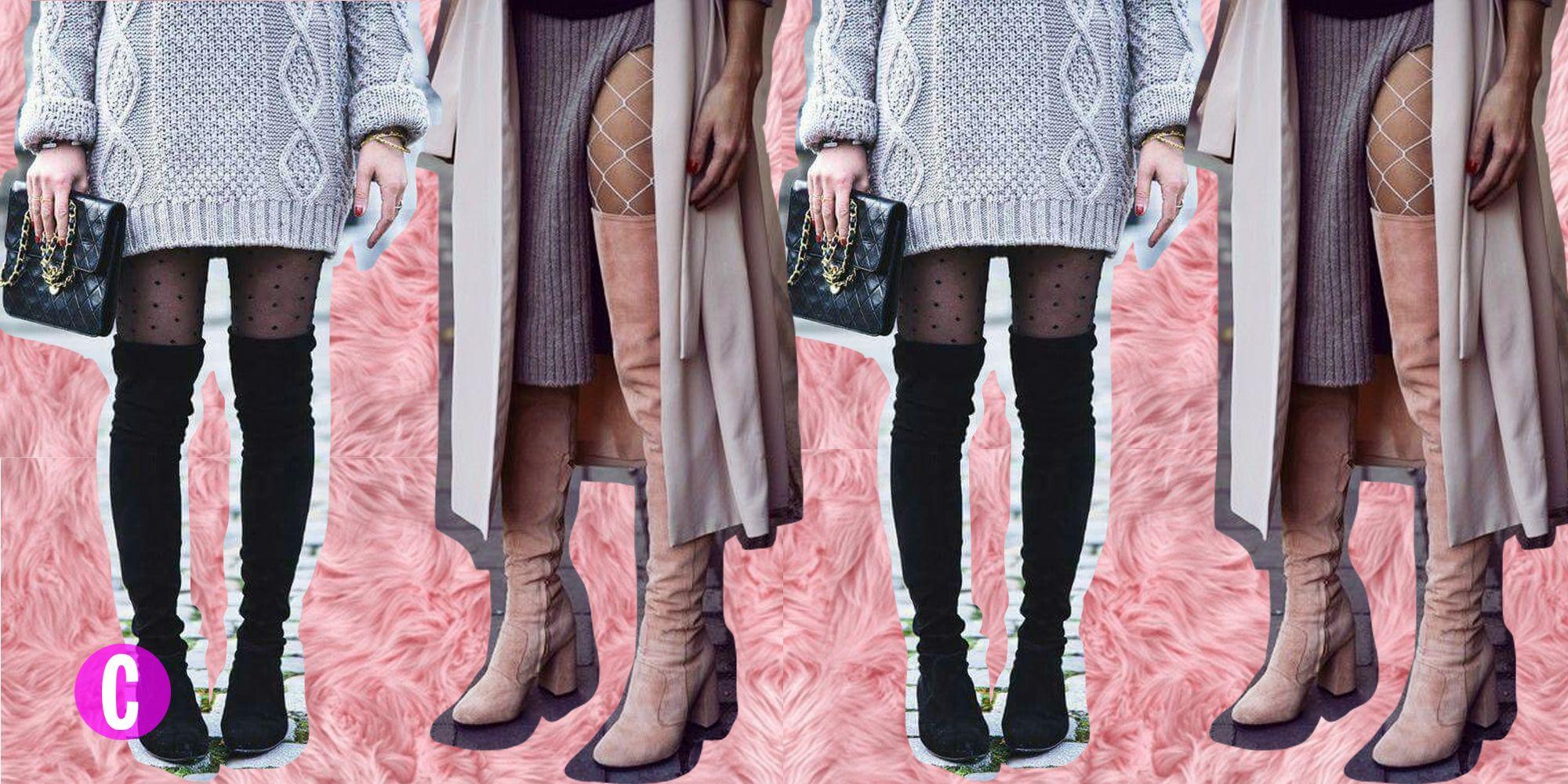 Piccoli Stivali E Sopra Lei questi sono i collant da indossare con gli stivali alti per