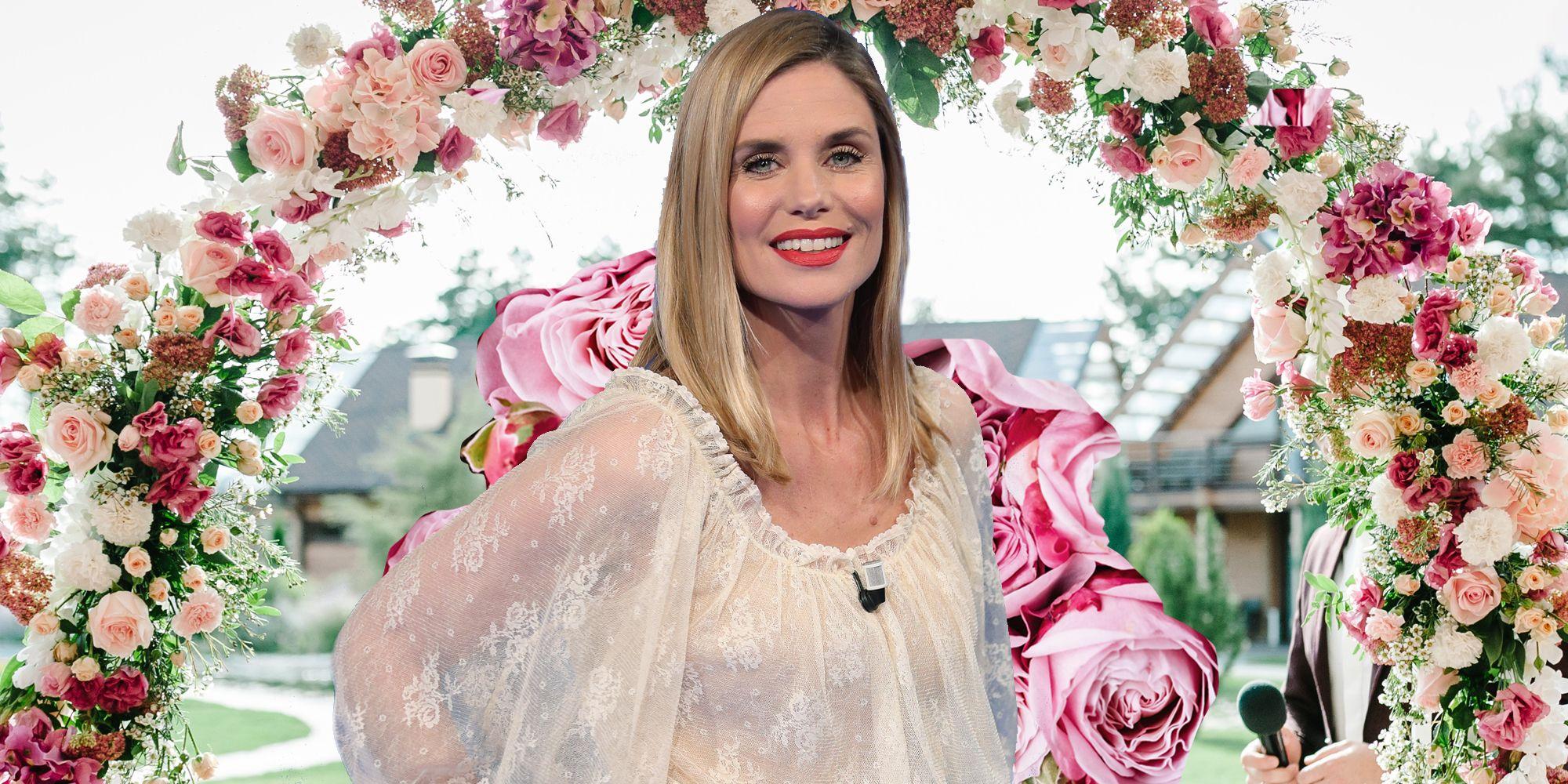 b92d2479e3 Filippa Lagerback in abito da sposa è angelica e soave