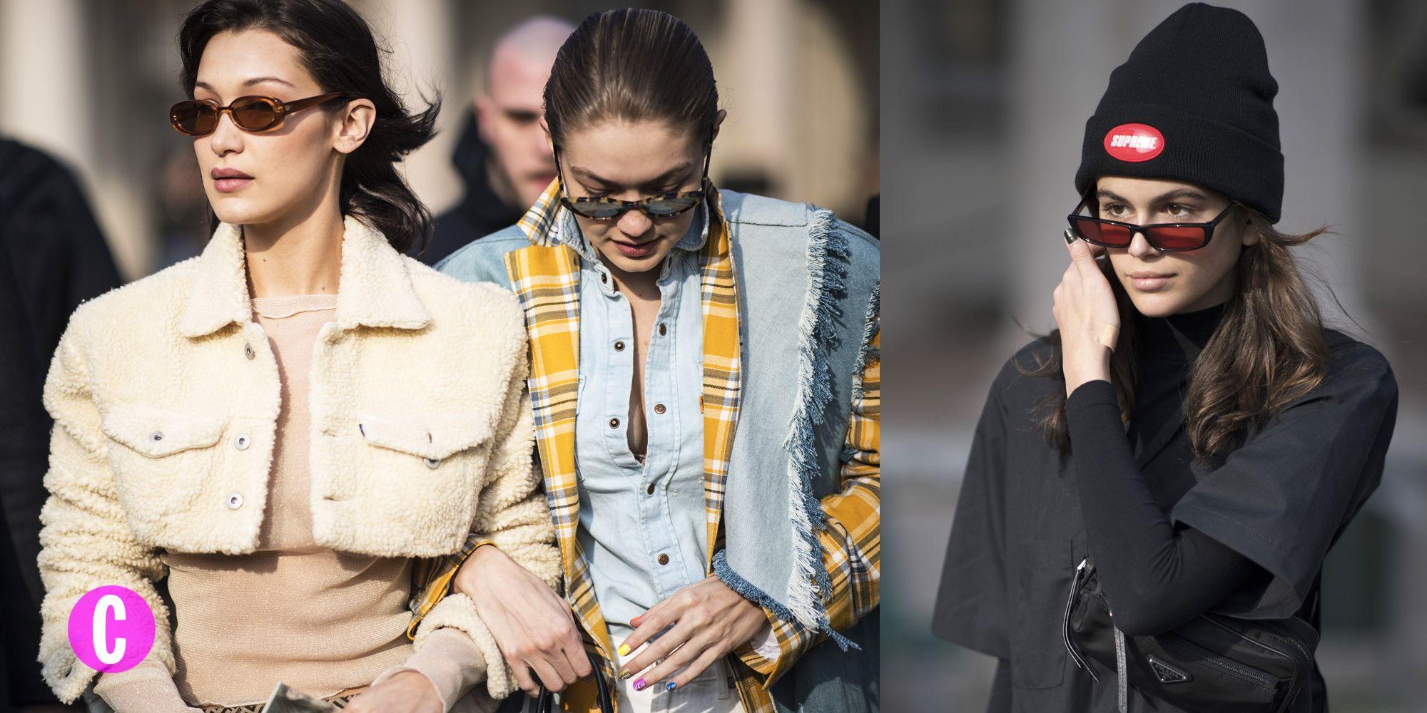 Gigi Hadid, Kaia Gerber e Bella Hadid a Milano per la fashion week tra una sfilata e un0altra indossano outfit da urlo, giubbotti e tute da lavoro che diventano tute eleganti.