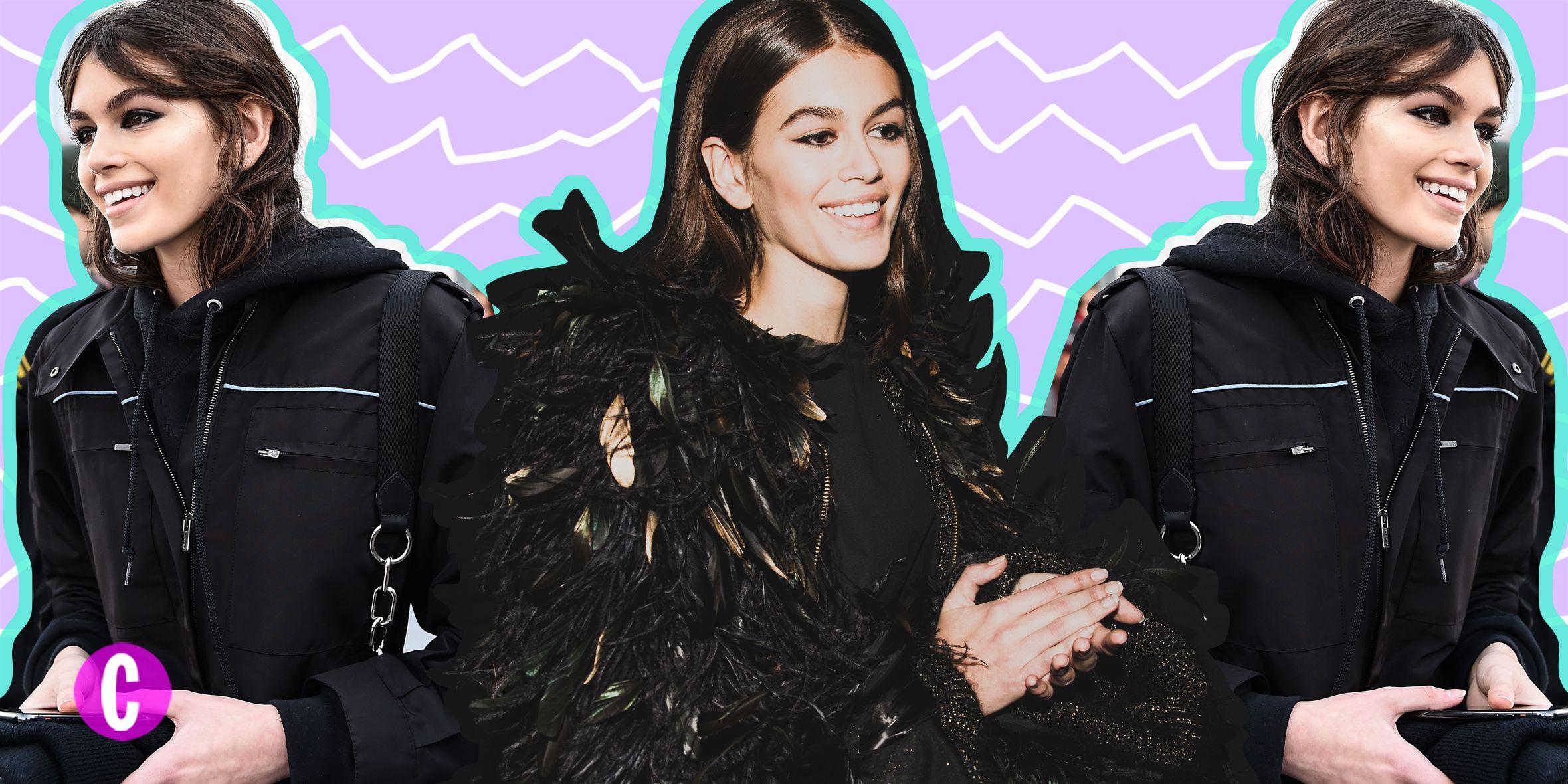 Kaia Gerber, astro nascente tra le modelle famose, quando è lontana dalle passerelle i suoi look assomigliano a quelli di una teenager, streetwear, citazioni anni 90, leggings e sneakers con i collant: da copiare.