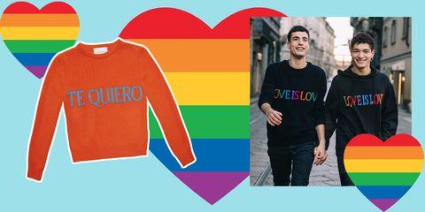 negozio online a5401 7d872 Alberta Ferretti, i maglioni arcobaleno professano l'amore ...