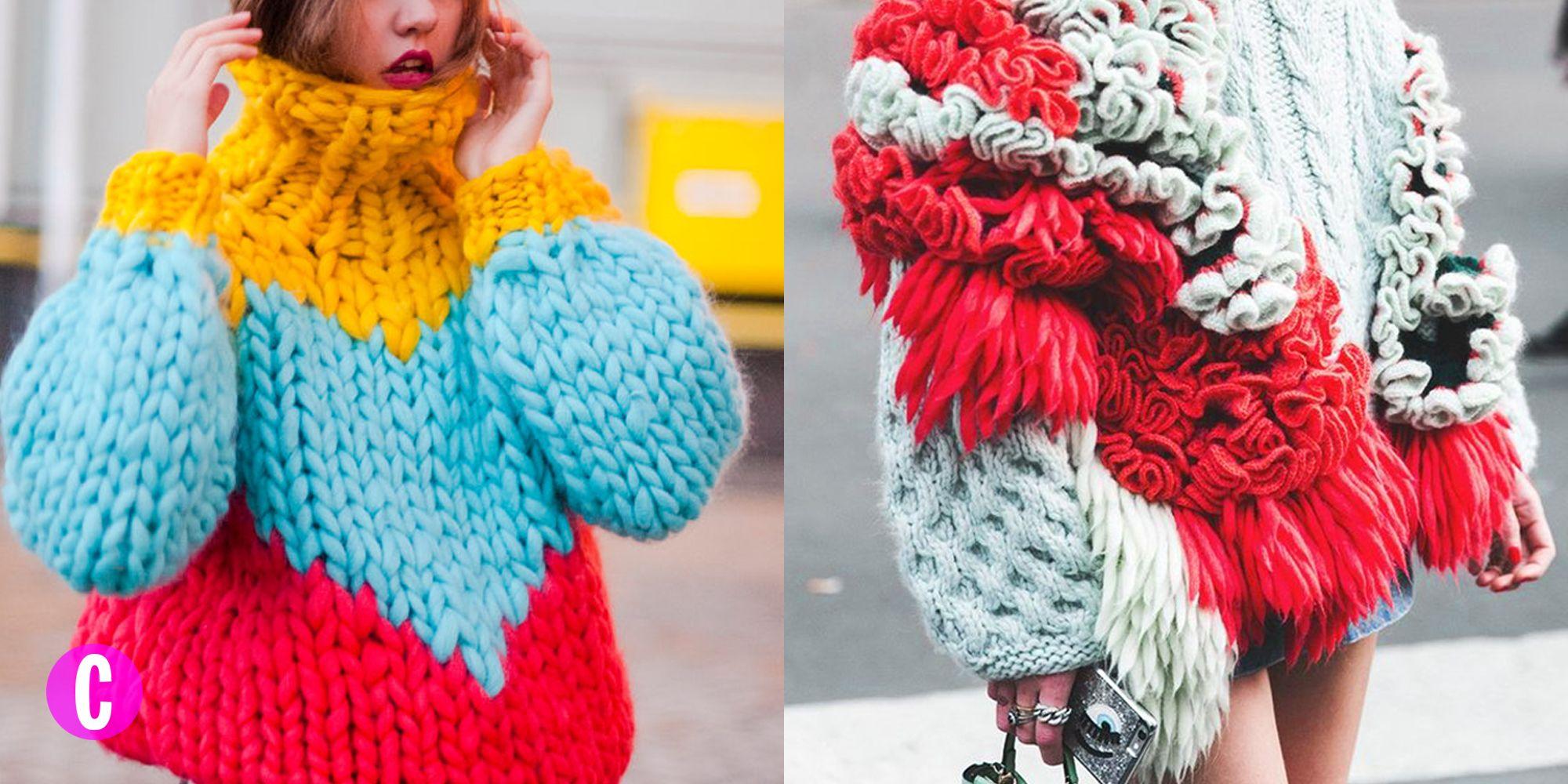 Sfida l'inverno con i maglioni in lana grossa oversize, sono caldi come l'abbraccio di un teddy bear e li indossi anche senza giacca.