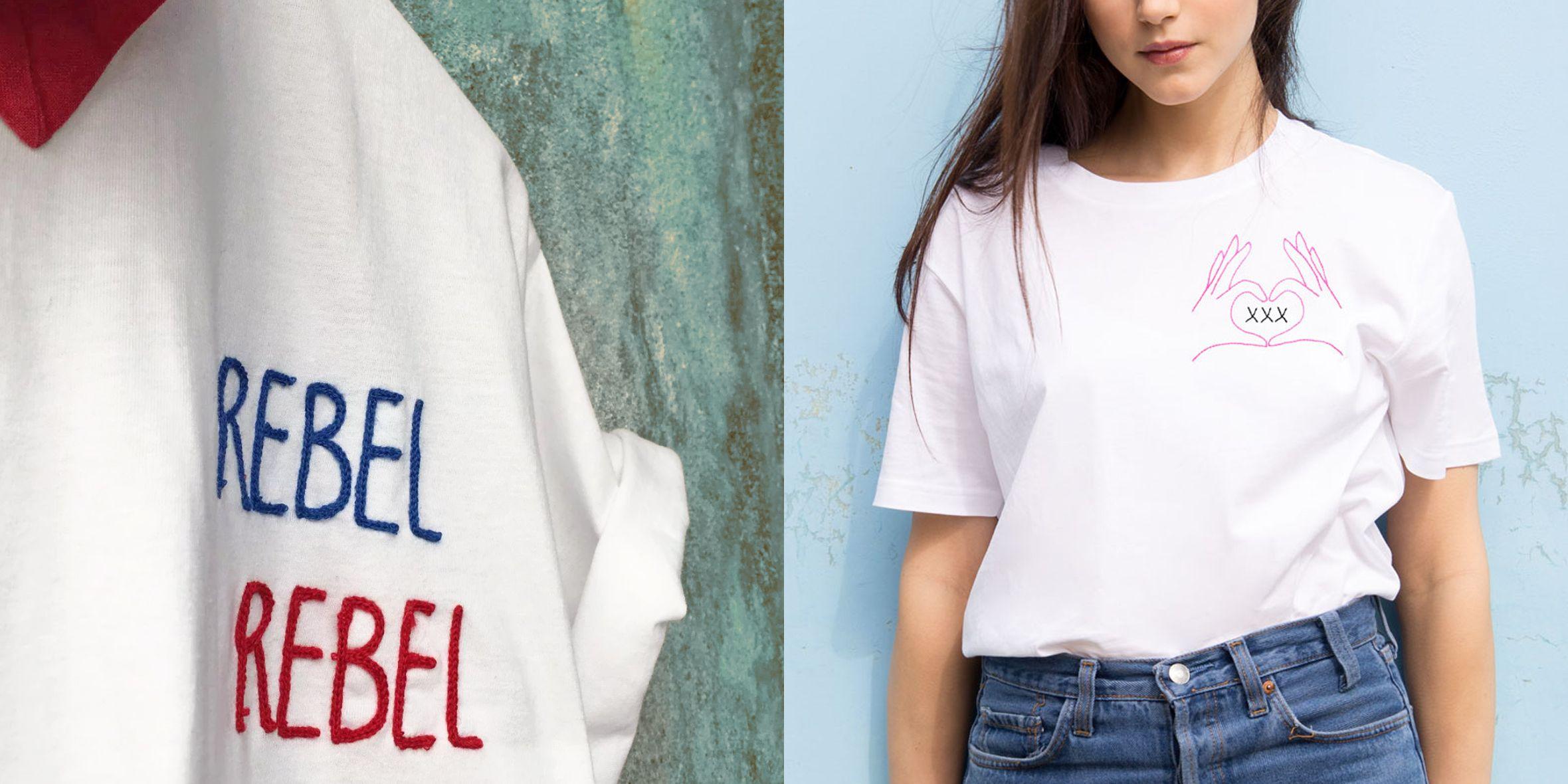 3609ae2394 Le t-shirt personalizzate con i ricami sono di moda