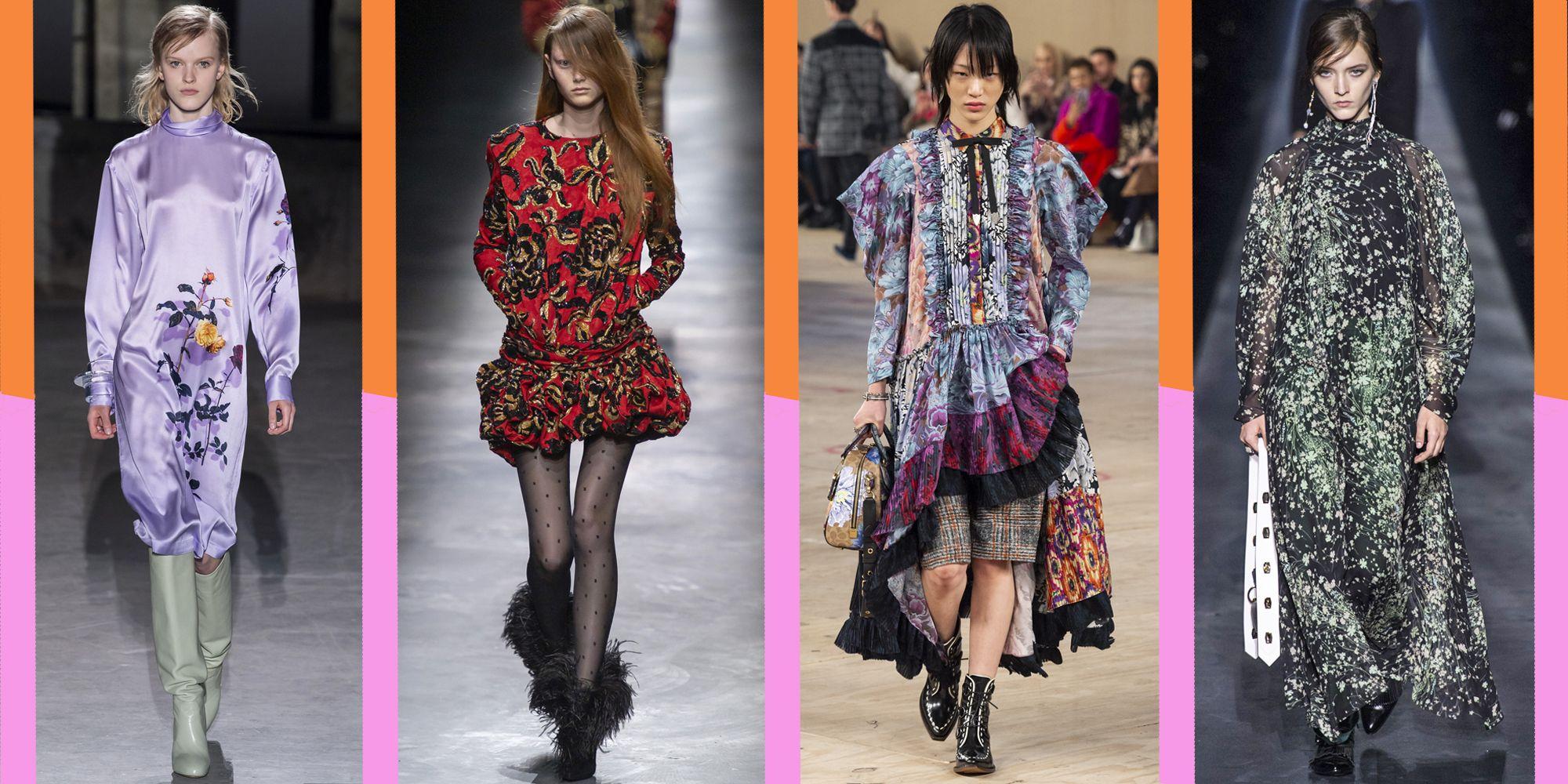 La moda autunno inverno 2019-2020 guarda ai vestiti come chiave di volta dei prossimi look e outfit cool, ma non si tratta di vestiti lunghi e vestiti corti classici, in mezzo ci sono stampe incredibili e dettagli couture.