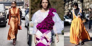 La moda primavera estate 2019 mette i vestiti eleganti in una nuova categoria, quella dei look giorno: perfetti e super glam sopra a maglie in cotone, a collo alto con sneakers e stivali.