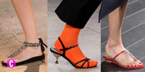 3df6fca2023db3 I sandali gioiello bassi sono le scarpe di tendenza per l'estate 2018,  guarda