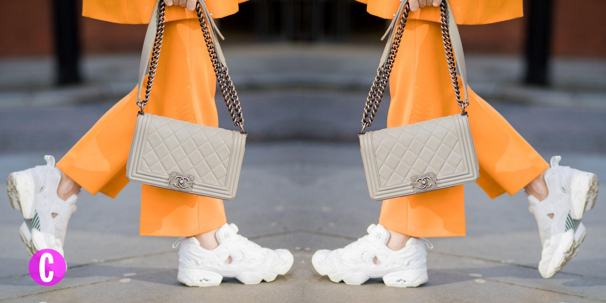 Le sneakers moda sono vistose, bianche e ricche di particolari: abbina le sneakers alte a look eleganti, con abiti lunghi e vestiti eleganti per outfit glamour e alternativi al tempo stesso.