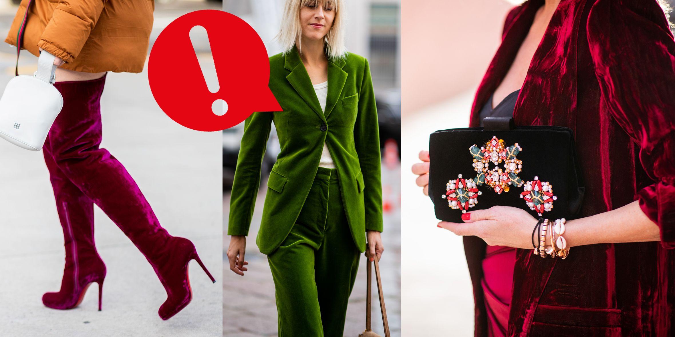 Velluto moda inverno 2019 senza errori negli abbinamenti