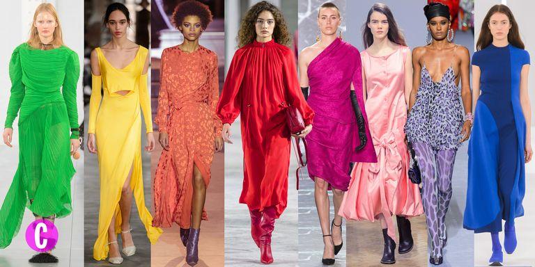 I vestiti di moda autunno inverno 2018 2019 sono arcobaleno for Colori moda inverno 2018