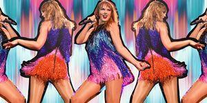 Fai colpo con i vestitini 2018, corti e interamente ricoperti di paillettes prendono ispirazione dai modelli technicolor in di Taylor Swift quando è sul palco del suo Reputation Tour.