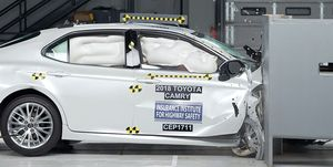 Toyota Camry passenger's side offset crash test