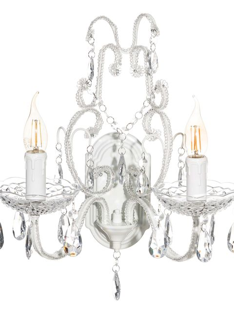 Aplique de metal blanco Chandelier, de Lola Home