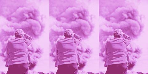 Photograph, Pink, Purple, Smoke, Sky, Magenta, Photography, Cloud, Plant, Black-and-white,