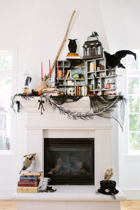 Pleasant 35 Fall Mantel Decorating Ideas Halloween Mantel Decorations Interior Design Ideas Clesiryabchikinfo
