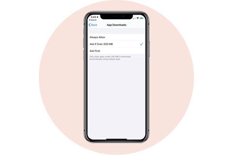 app size limit iphone