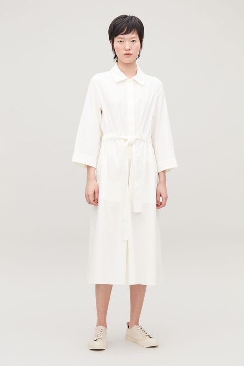 Cos belted poplin shirt dress