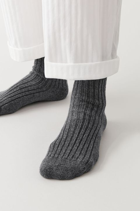 White, Sock, Wool, Leg, Footwear, Joint, Ankle, Tights, Shoe, Black-and-white,