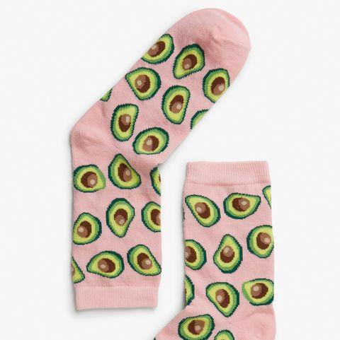 Footwear, Product, Pink, Shoe, Sock, Design, Pattern, Visual arts, Fashion accessory,