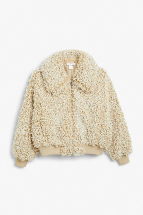 Monki Beige teddy bear jacket £65