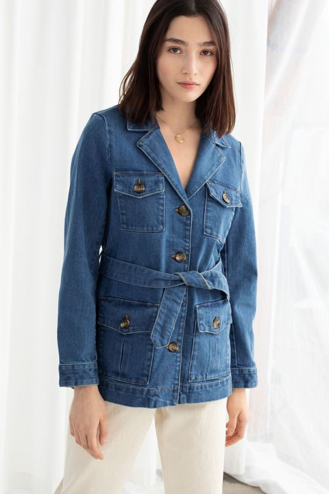 & Other Stories belted denim jacket