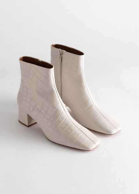 Footwear, White, Shoe, Beige, Boot, Leather,