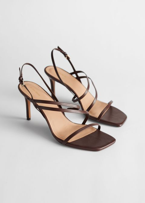 Brown, Sandal, Tan, Beige, High heels, Basic pump, Slingback, Fashion design, Strap, Still life photography,
